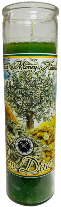 Ven Dinero 7 Day Prayer Candle For Luck, Money, Abundance, ETC.