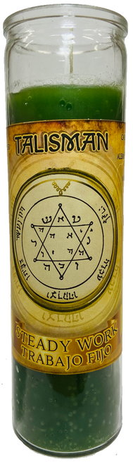 Talisman Steady Work Trabajo Fijo 7 Day Prayer Candle To Open Your Path Leading To Steady Work