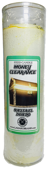 Money Clearance Suelta El Dinero Dressed & Blessed 7 Day Prayer Candle For Wealth, Prosperity, Abundance & Financial Success