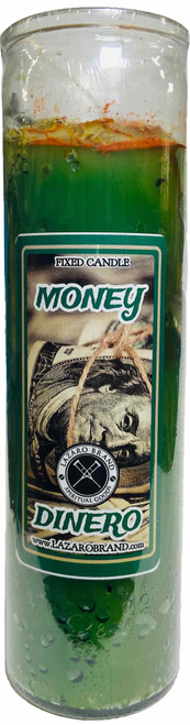 Money Dinero Dressed & Blessed 7 Day Prayer Candle For Wealth, Prosperity, Abundance & Financial Success