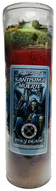 Santa Muerte Holy Death Dressed & Blessed 7 Day Prayer Candle For Making Positive Changes & Brighter Future