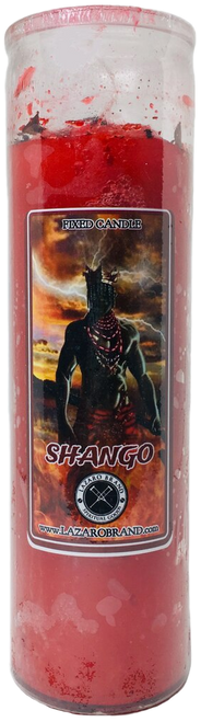 Orisha Chango (Shango) Warrior Of Lightning Thunder & Virility A Powerful Sorcerer Who Spits Fire Dressed & Blessed 7 Day Prayer Candle To Increase Personal