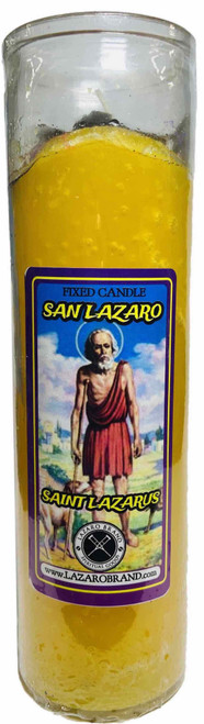 Saint Lazarus San Lazaro Saint Lazarus The Patron Saint Of Healing Dressed & Blessed 7 Day Prayer Candle For Recovery From Illness & Addiction