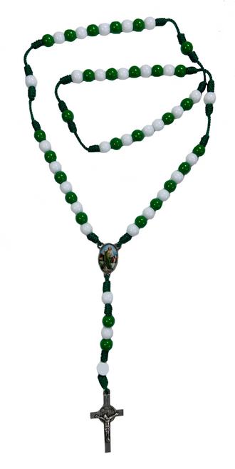 Saint Jude San Judas Tadeo Patron Saint Of Healing Spiritual Rosary Necklace For Wellness, Hope & Emotional Peace