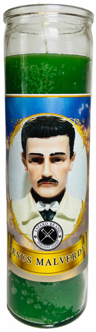 Jesus Malverde Angel Of The Poor Folklore Hero 7 Day Prayer Candle For Protection Guidance & Wisdom (Green)