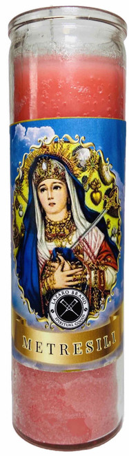 Metresili Our Lady Of Sorrows 7 Day Prayer Candle For Romantic Love, Purity, Abundance, ETC. (Pink)