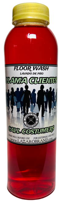 Call Customers Llama Clientes Floor Wash To Grow Your Business & Attract Customers (16oz)