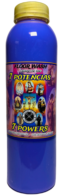 7 Powers 7 Potencias Floor Wash To Overcome Obstacles & Protection From Harm (16oz)