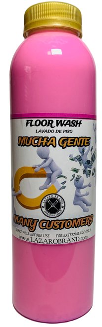 Many Customers Mucha Gente Floor Wash To Grow Your Business & Attract Customers (16oz)