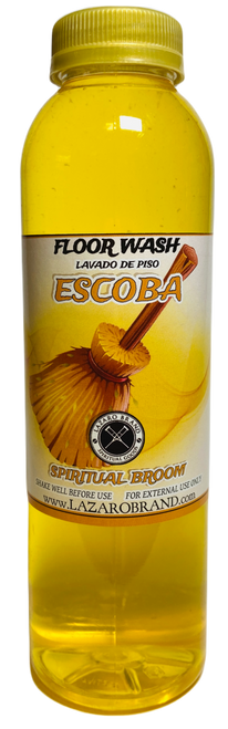 Broom Escoba Floor Wash To Chase Out Evil Spirits, End Curses & Get Rid Of Unwanted Influences (16oz)