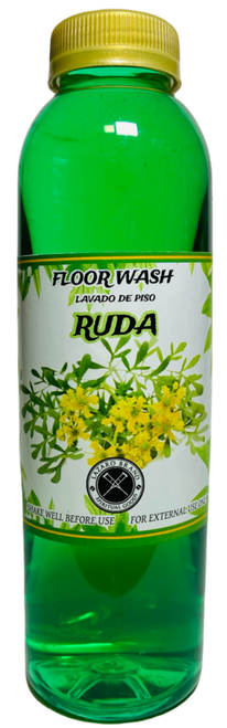 Rue Ruda Floor Wash To Clear Away Obstacles Opening The Doors To Good Luck (16oz)