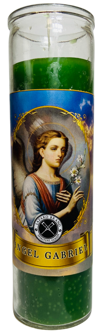 Archangel Gabriel The Powerful Messenger Of God 7 Day Prayer Candle For Pregnancy, Strength, Protection & Communication (Green)