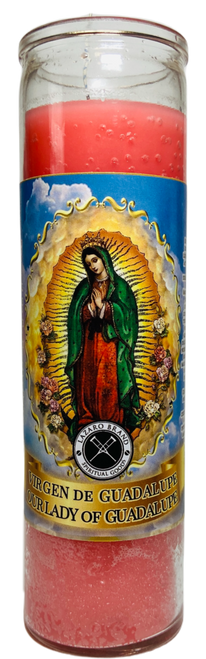 Our Lady Of Guadalupe Virgen De Guadalupe Patron Saint Of Mexico 7 Day Prayer Candle To Fight Against Oppression & Declare Independence