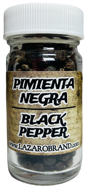 Black Pepper Pimienta Negra Prayer Powder Herbs For Commanding, Sensuality, Passion, & Spell Breaking (1.25oz)