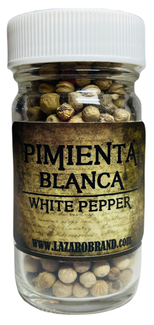 White Pepper Pimienta Blanca Prayer Powder Herbs For Courage, Banishment, Ward Off Envy, Protection & Speed Up Spells (1.25oz)