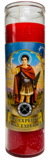 Saint Expeditus San Expedito The Patron Saint Of Emergencies 7 Day Prayer Candle To Solve Urgent Problems In A Hurry (Red)