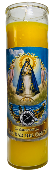 Our Lady Of Charity Caridad Del Cobre 7 Day Prayer Candle For Fertility, Peace At Home & Family Bonding