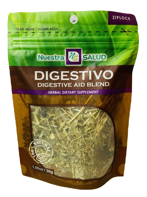 Digestive Aid Blend Digestivo Nuestro Salud Herbal Dietary Supplement (Boil The Herbs Drink As Tea)