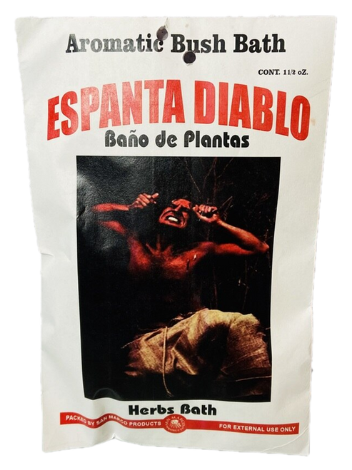 Go Away Devil Espanta Diablo Herb Bath Aromatic Bush Bath To Remove Curses, End Crossed Conditions, Remove Spells, Get Rid Of Unwanted Spirits, ETC. (Boil Herbs In Water To Prepare)