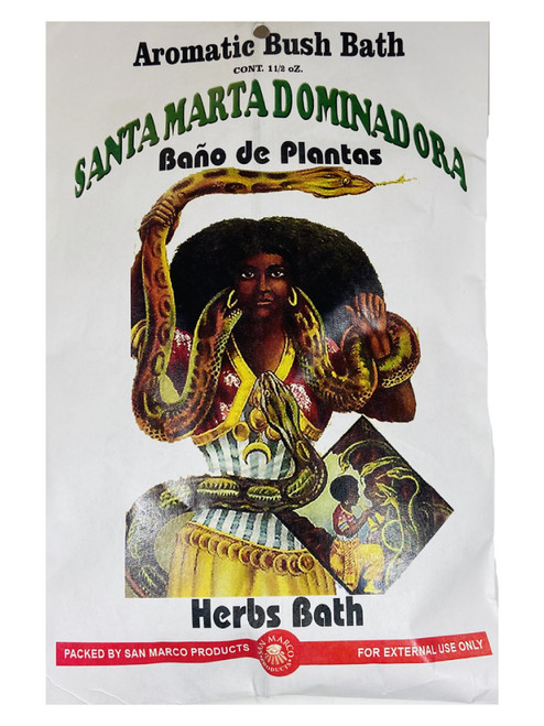Santa Martha Dominadora Aromatic Bush Bath To Take Control Of The Situation & Dominate Over Your Enemies (Boil Herbs In Water To Prepare)