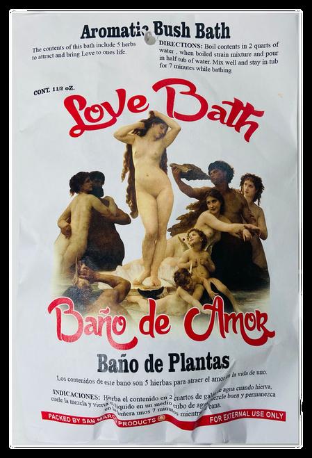 Love Bath Bano De Amor Herb Bath Aromatic Bush Bath For Romance, Love, Attraction, Soulmates, ETC.(Boil Herbs In Water To Prepare)