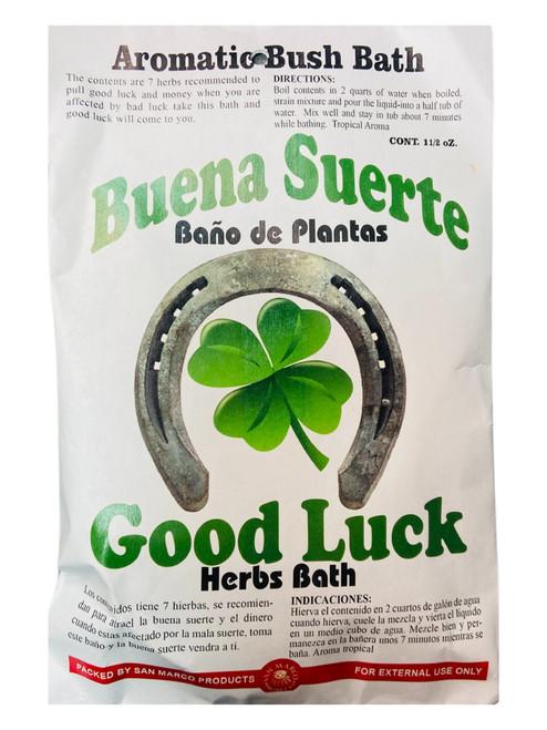Good Luck Buena Suerte Aromatic Bush Bath For Good Luck & Abundance (Boil Herbs In Water To Prepare)