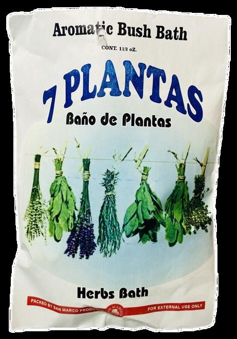 7 Plants Herb Bath 7 Plantas Herb Bath Aromatic Bush Bath For Purification & Spiritual Cleansing (Boil Herbs In Water To Prepare)
