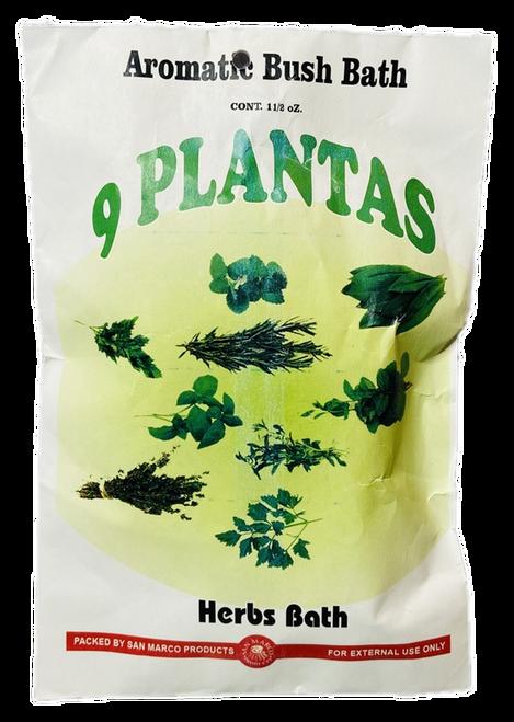 9 Plants Herb Bath 9 Plantas Herb Bath Aromatic Bush Bath For Purification & Spiritual Cleansing (Boil Herbs In Water To Prepare)
