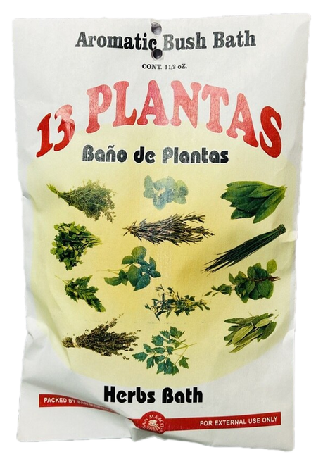 13 Plants Herb Bath 13 Plantas Herb Bath Aromatic Bush Bath For Purification & Spiritual Cleansing (Boil Herbs In Water To Prepare)