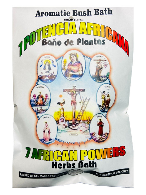 7 African Powers 7 Potencias Aromatic Bush Bath To Overcome Obstacles & Protection From Harm (Boil Herbs In Water To Prepare)
