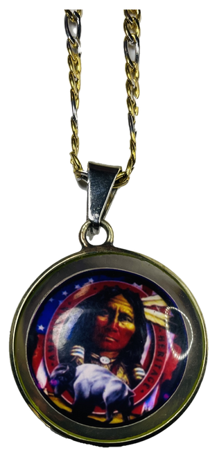 Lucky Indian Spirit Spiritual Necklace For Good Luck When Gambling Betting Lottery Etc. (Double Sided Pendant)
