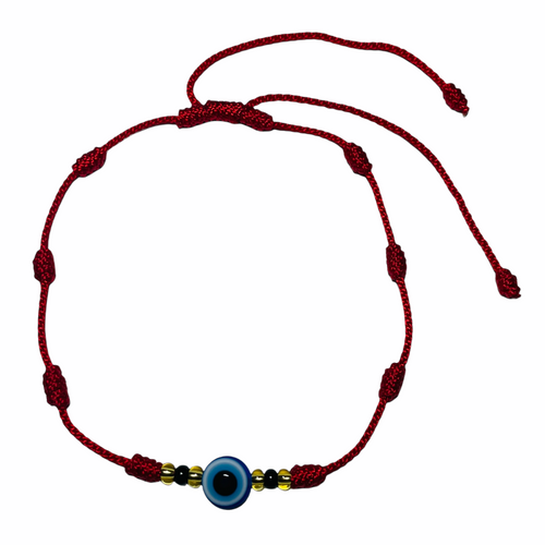 Evil Eye Spiritual Ankle Bracelet To Ward Off Evil & Attract Good Luck (Eye W/ Red String)