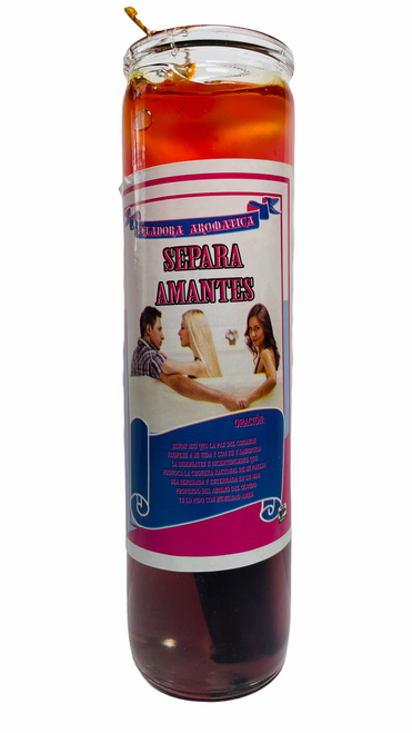 Separate Lovers Separa Amantes Scented Gel Candle W/ Figure Inside To Break Them Up