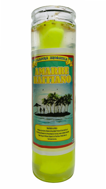 The Haitian Tie  Amarre Haitiano Scented Gel Candle W/ Figure Inside To Have A Commanding Influence On Someone & Exercise Control Over Them