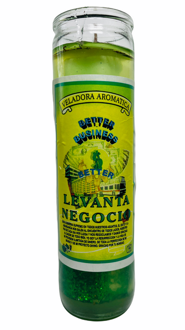 Better Business Levanta Negocio Scented Gel Candle W/ Figure Inside To Grow Your Business & Attract Customers, ETC.