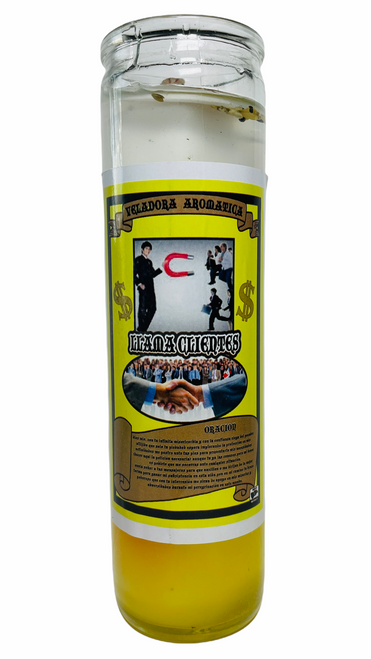 Call Cusotmers Llama Clientes Scented Gel Candle W/ Figure Inside To Grow Your Business & Attract Customers, ETC.