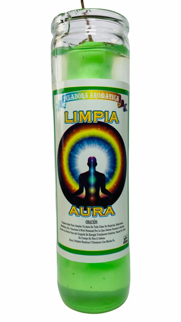 Aura Cleanser Limpia Scented Gel Candle W/ Figure Inside To Cleanse Your Electromagnetic Energy
