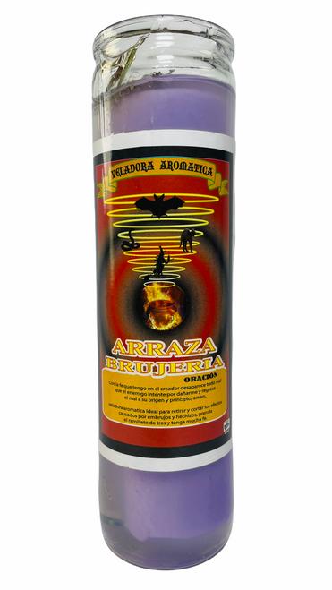 Destroy Witchcraft Arraza Brujeria Scented Gel Candle W/ Figure Inside