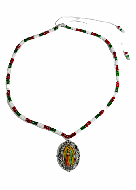 Virgin Of Guadalupe Nuestra Señora De Guadalupe Patron Saint Of Mexico Image Necklace To Fight Against Oppression & Declare Independence