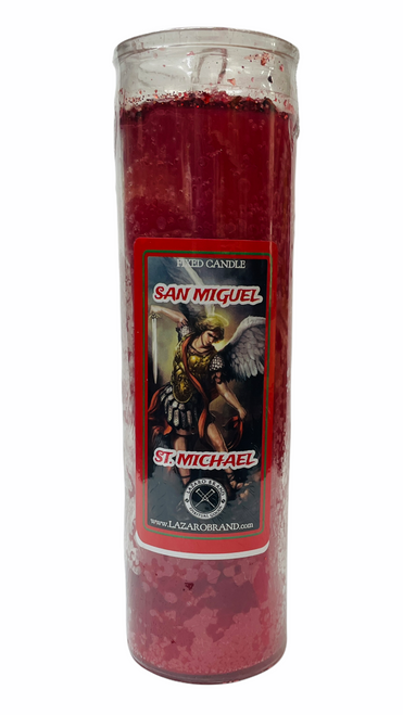Archangel Saint Michael Dressed & Blessed 7 Day Prayer Candle To Fight Against All Evils & Protect Your Soul