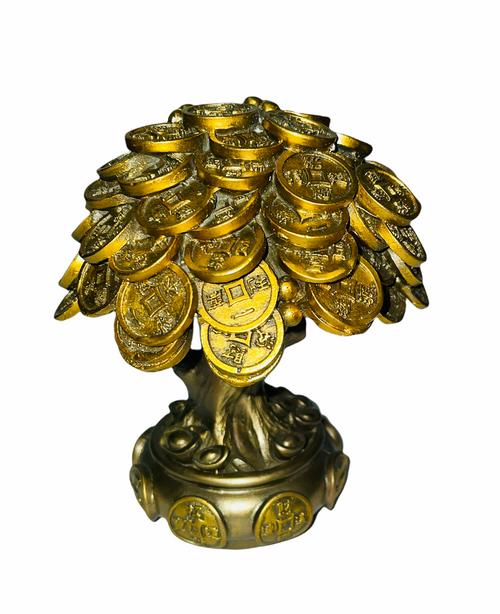 Money Tree Auspicious Feng Shui Statue For Good Luck & Abundance