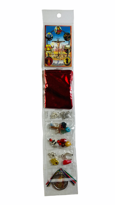 7 African Powers 7 Potencias Africanas Mega Mojo Bag To Overcome Obstacles & Protection From Harm