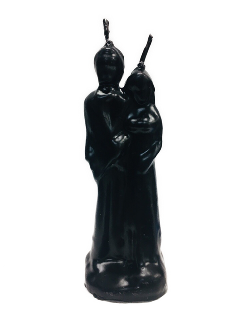Marriage Couple Figure Candle To Break Them Up (Black)