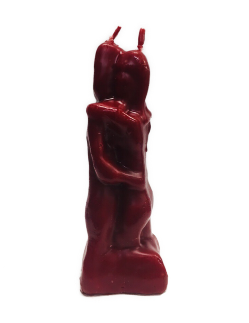 Loving Couple Figure Candle To Keep Enemies Away From Your Relationship (Red)