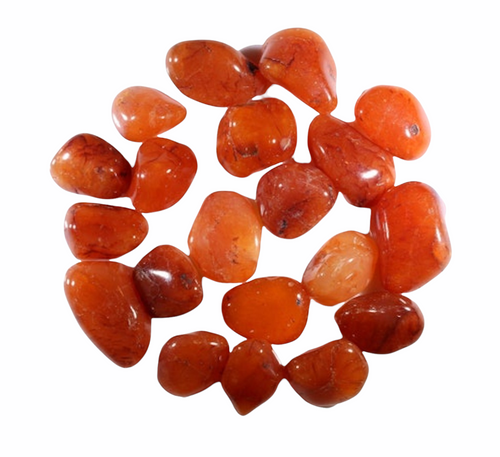 Carnelian Agate Tumbled Gemstone For Creativity, Physical Vitality, Grounding, ETC. (1 piece)