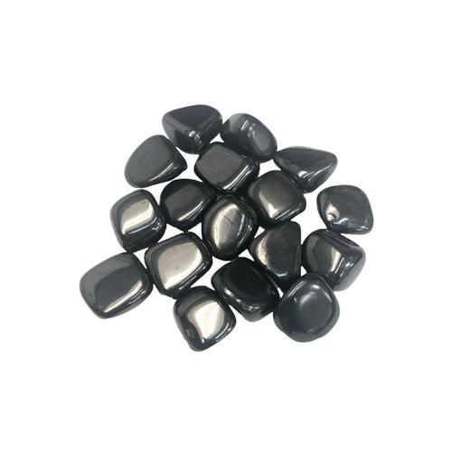 Shungite Tumbled Gemstone For Shielding, Grounding, Protective, ETC. (1 piece)