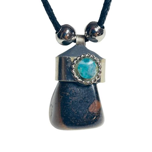 Tigers Eye Adjustable Knot Black Cord Gemstone Necklace For Protection, Creativity, Balance, ETC.