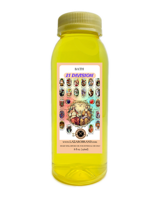 21 Divisions To Clear Danger From My Path Return Me To Spiritual Peace Overcome Obstacles And Recover Faith (Spiritual Bath Liquid 8oz)