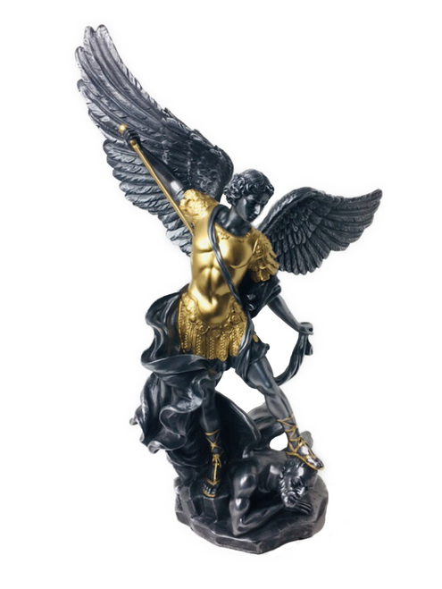 "Archangel Saint Michael Guardian Of Justice The Leader Of All The Angels In Heaven Please Guard My Soul Of All That Creates Toxicity In My Life I Am Ready To Pray For Protection (14"" Statue)"