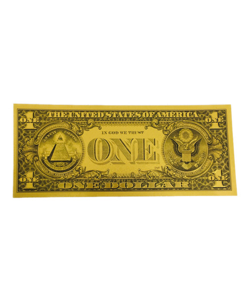 $1 Lucky Golden Spiritual Money Banknote Currency For Good Luck And Economic Protection